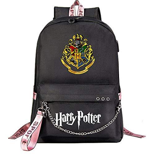Zaino magico Hogwarts istituto ,Zaino Harry moda ,potter Borsa da viaggio per il tempo libero Con porta USB e jack per cuffie nero stile-28