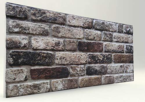 3-D Brick Look Styropor Wandverkleidung-Verblender Brick Look Wandpaneele- Wanddeko für Küche, Badezimmer, Balkon, Schlafzimmer, Wohnzimmer-Styropor Wand Platten Stückpreis 11,90 € (100x50x2cm)