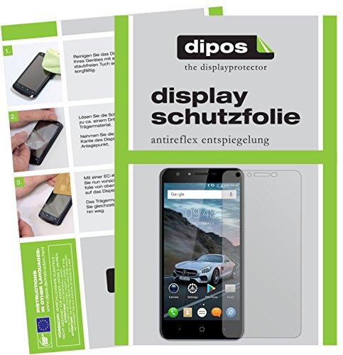 dipos I 2X Schutzfolie matt kompatibel mit Doogee Y6C Folie Bildschirmschutzfolie