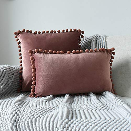 INMOZATA Cushion Pads with Cushion Cover 30 x 50cm Square Lilac Cushion Inserts Soft Velvet Polyester Pillow Cushion Filler for Bed Chair Sofa, 1 Piece (12x20inch)