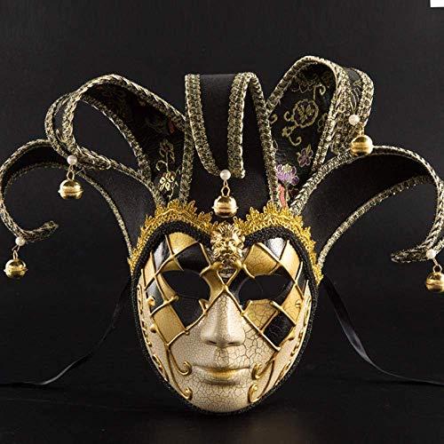 Volgelaats Creepy Grappige Maskers - perfect for Carnaval Halloween - Volwassen Kostuum Unisex One For All 16 * 43CM @ Black HAOSHUAI