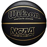 Wilson Men's NCAA Highlight 295 BSKT Basketball, Black/Gold, Official