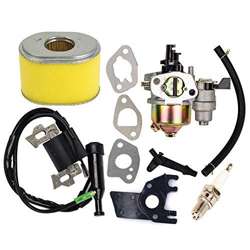 OuyFilters - Carburateur de rechange avec bobine d'allumage et filtre à air pour moteur de tondeuse à gazon Honda Gx160 Gx200 - 5,5 ch - 6 ch