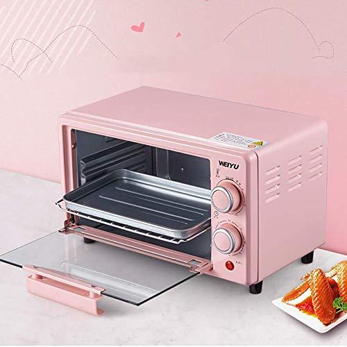 NLRHH 10L Mini Toaster Elektro-Ofen backt Küche kompakten Tisch Timer 800W Konvektion-Ofen, Backzutaten Multifunktionale Vollautomatische Elektro-Ofen Peng