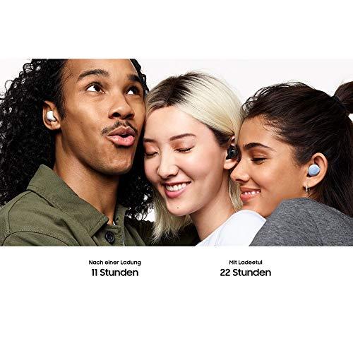 Samsung Galaxy Buds +, Kabellose Kopfhörer, 3 Mikrophone, Sound by AKG, ausdauernder Akku, 2-Wege-Lautsprecher Bluetooth, Weiß (Deutche Version)
