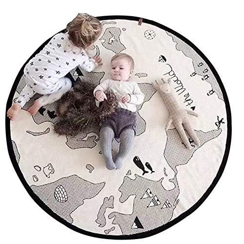 Spielmatte/Krabbelmatte/Teppich mit Weltkarte-Motiv, für Baby/Kleinkinder, weiche Leinen-Baumwolle, für Zuhause, Dekoration, Schlafzimmer, Geschenk, von lulalula