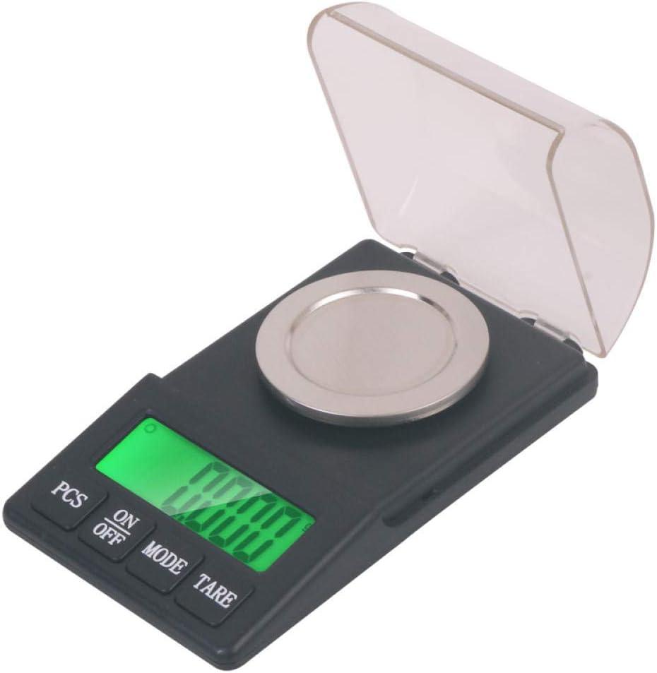 HJTLK Báscula Digital de Cocina, Alta precisión y medición precisa de balanza electrónica 0.001G MG Lipstick Powder Llamado Micro-Quilates