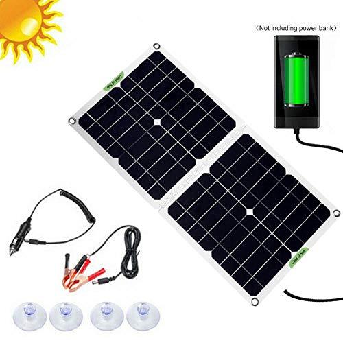 Pictury Solarpanel-Set , Solaranlage Gartenhaus , 100W 12V / 5V Solarpanel Mit Autobatterieladesteuerung Tragbarer Solar-Rieselbatteriewartungsgerät Für Auto-Bootsmotorrad