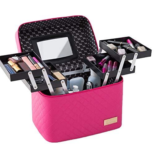 MYYU Malette Maquillage Coffret Rangement Maquillage Beauty Case Organiseur De Cosmétique Boîte Valise Maquillage Professionnel Vanité,Violet
