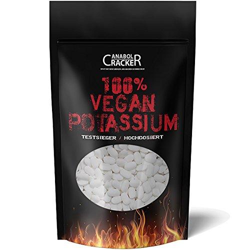 300 TABLETTEN - KALIUM / 100% Vegan Potassium Gluconat, Hochdosiert 495mg pro Tagesportion