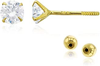 earrings gold 585 PARGOLD 14 carat GOLD ring 14K with cubic zirconia white 585 yellow gold ladies yellow gold R15-190-PG
