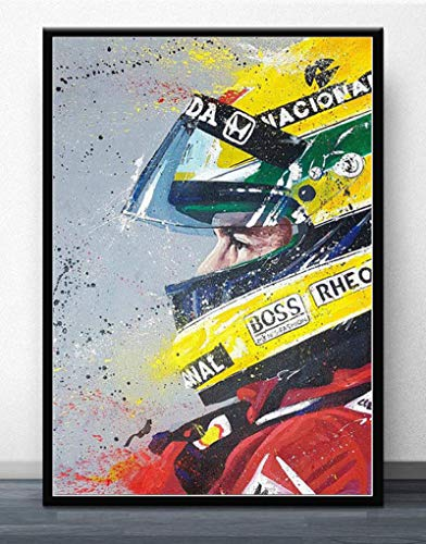 World Champion Ayrton Senna F1 Formula Racing Car Poster Wall Painting Posters and Prints for Room Home Decor Poster (LW-724) 40x60cm No frame