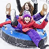 N/J Inflatable Snow Sled, 47Inch Flexible Flyer Inflatable Snow Tube, Inflatable Snow Tube Sled For Kids And...