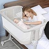 Baby Bassinet Newborn, Bable Baby Bedside Sleeper for Baby, Baby Bassinet Bedside Sleeper Crib Bassinet for Newborn, Height Adjustable Baby Bassinet Crib, Newborn Baby Crib Bed with Wheels