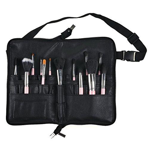 KINGDUO Pro 28 Poche Maquillage Brosses Sac PU Cuir Tablier Ceinture Sangle Brosse Porte Outil Cosmétique