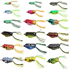 Made of super soft and elastic material, super-strong and super-sharp hooks The tough double-hook design give it excellent hooking action, improve chances of keeping fish on Super durable hooks are positioned perfectly to be 100% weedless, allows it ...