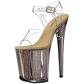 Pleaser Women's Flam808srs/c/g Platform Sandal