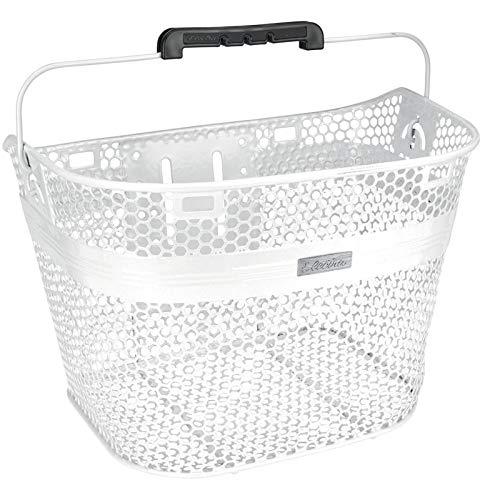 Electra Bicycle Electra Fahrradkorb Linear QR Mesh Basket, Metallic Weiß, 5409