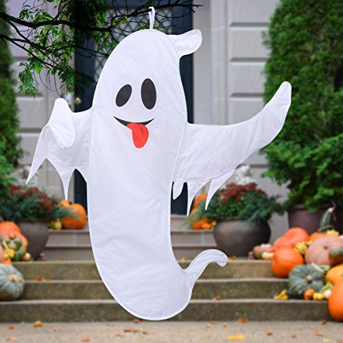 Halloween Decorations Outdoor, Super Large Halloween Ghost Decorations for Tree with Easy Hanging Lanyard - 59 inch