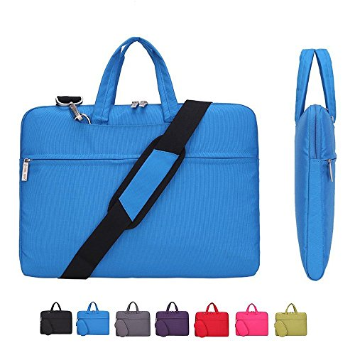 KUSDET Laptop Sleeve 14 Inch Shoulder Bag Multi-Functional Notebook Carrying Case with Strap for Chromebook MacBook Pro HP Stream Samsung Acer Asus Dell Lenovo etc (14 inch, Blue)