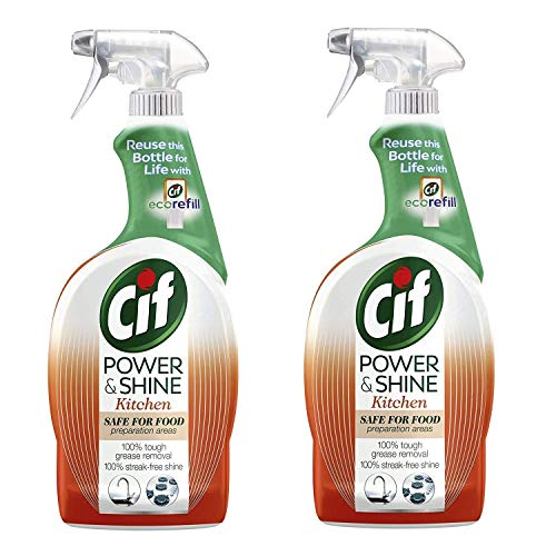 CIF Power & Shine Kitchen Cleaner 700ml with Orange and Tangerine Oil Pack Of 2