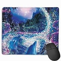 ムーンドルフィン マウスパッド 25x30cm レーザー&光学マウス対応 防水/洗える/滑り止め 中型 ブラック