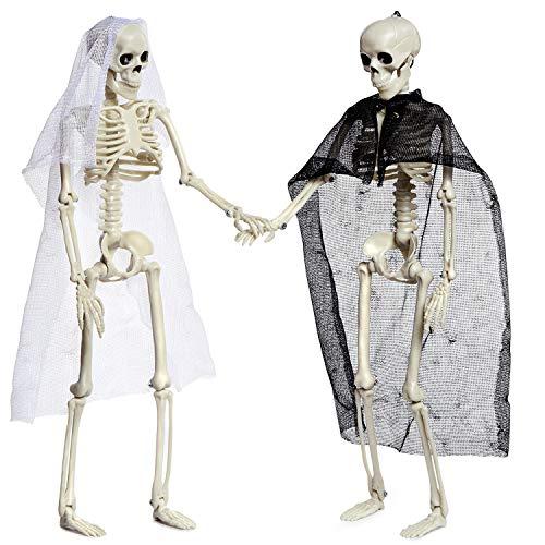 Joyjoz Decoración de Halloween,2 Piezas Esqueletos de Halloween, Accesorios de Halloween