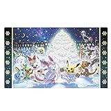 海外ポケモンセンター限定 ポケモンカードゲーム プレイマット ポケモン達のクリスマス Pokemon Holiday L