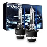 RCP D4R専用HIDバルブ シェード付 車用ヘッドライト Rタイプ 純正交換 35W Xenon HID 8000K 発光色選択可能 明るさアップ 加工なし 2年保証 2個入り RCP-D4R