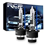 RCP D2R 8000K Xenon HID Replacement Bulb Ice Blue Metal Stents Base 12V