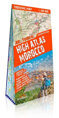terraQuest Trekking Map High Atlas Morocco