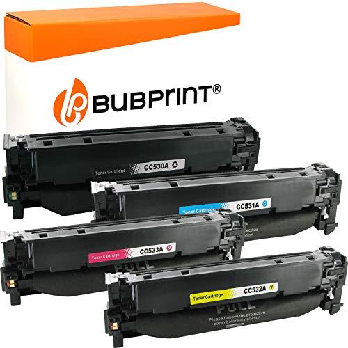 Bubprint 4 Toner kompatibel für HP 304A CC530A CC531A CC532A CC533A für Color Laserjet CM2320FXI CM2320NF CM2320N MFP CP2020 CP2025 CP2025N CP2025DN