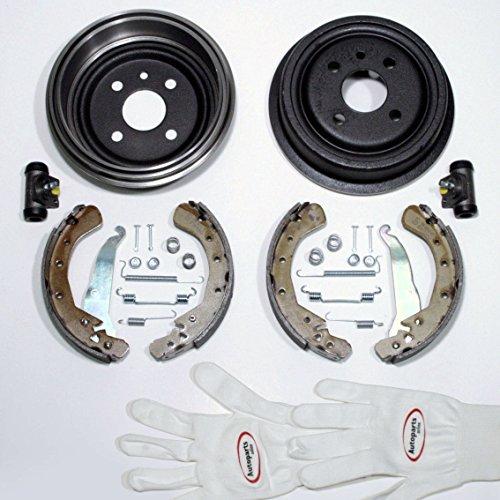 Autoparts-Online Set 60015965 Bremstrommeln Bremsen Bremsbacken Zubehör Radzylinder für hinten die Hinterachse