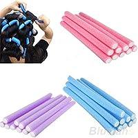 10 unidades de rodillos de espuma para rizador de pelo largo, de espuma suave, con esponja curvada, para cabello largo, pelo corto