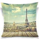 Bokueay Funda de Almohada Kaariok Vintage Torre Eiffel París...