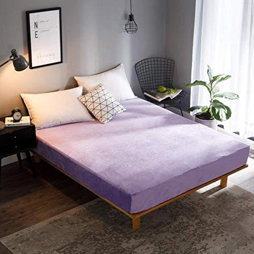 Hoeslaken voor Winter Wijn Kleur Warmer Zacht Flanellen Bed Sheet met Elastische Queen King Eenpersoons Grootte Koraal Fleece Bed Sheet