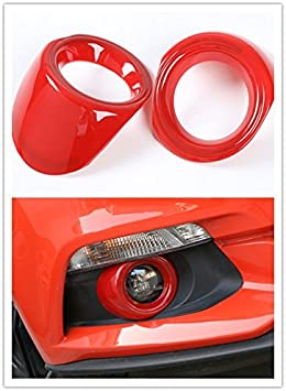 Front Fog Light Decoration Ring Frame Cover Trim Shell ABS Wear Resisting Scratch Protection Device for Ford Mustang 2015+ Blue S3457