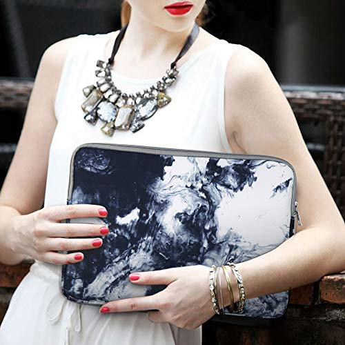 iCasso Laptop Sleeve, 13-13.3 Inch Stylish Flower Pattern Canvas Stitching Leather Briefcase Cover Case Bag for MacBook Air/Pro/Ultrabook/Notebook/iPad Pro