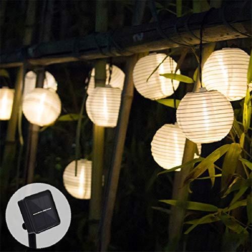 DogensHonz Al Aire Libre, Impermeable, LED, luz Solar, Guirnalda, linternas solares, lámparas, Luces de Hadas para jardín, 30LED, Blanco cálido