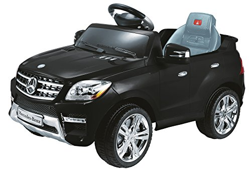 Toyas Mercedes Benz Kinderfahrzeug SUV Jeep ML350 Kinderauto Elektroauto 2X 25W Motoren MP3 Anschluss Fernbedienung in Schwarz