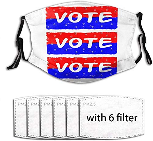 Vote Washable Reusable Facial Decorations Suitable for Adult with 6 Filter