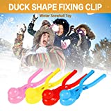 OLOPE Snowball Maker Tool with Handle for Snow Ball Fights for Kids and Adults, Cartoon Duck Snowball Maker Clip Perfect for Kids Play in Winter at Outdoor (4PC)