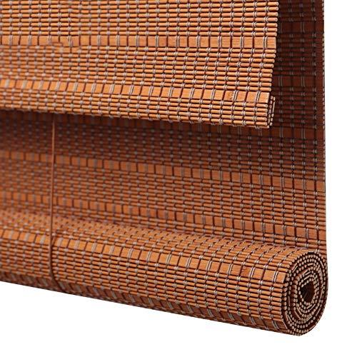 CHAXIA Rolgordijn Bamboe Schaduw Balkon Cover Licht Gordijn Partitie Zonwering Rolluik Trek het touw omhoog en omlaag, 2 kleuren, Meerdere Maten