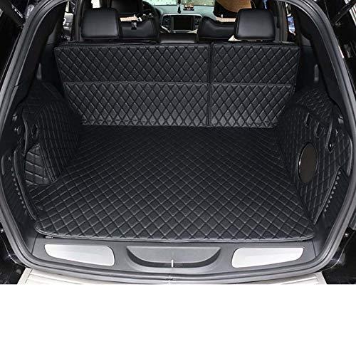 SLONGK Für Jeep Grand Cherokee wk2 2011-2019, Kofferraummatten Zubehör Leder Auto Kofferraummatte Cargo Liner
