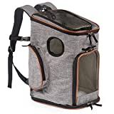 Pawfect Pets Pet Carrier Backpack for Cats and Toy Breed/Extra Small Dogs- Airline-Approved, Soft-Sided, Designed for Travel, Hiking, Walking & Outdoor Use