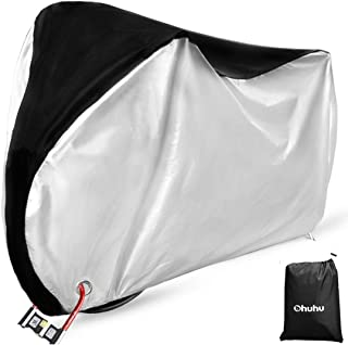 Ohuhu Bike Cover Waterproof Outdoor Bicycle Cover for Mountain and Road Bikes