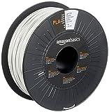 Amazon Basics - Filamento para impresora 3D, ácido poliláctico (PLA), 1.75 mm, cinta de 1 kg, gris claro