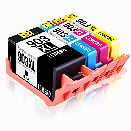 4 LEMERO Kompatibel Druckerpatronen für HP 903XL 903 XL für HP OfficeJet Pro 6950 6960 6970 6860 6868 6975 6978 All-in-One Drucker (Neueste Chip im April)