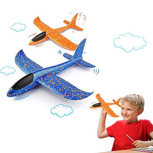 VCOSTORE Throwing Foam Glider Plane, 2Pcs Upgrade Flight Mode EEP Manual...