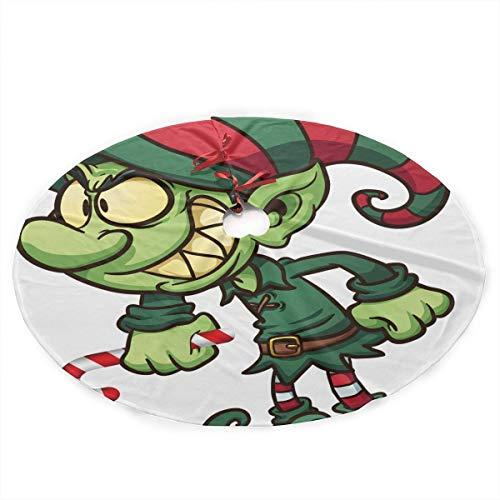 YJWLO Christmas_elf_and_reindeer-wallpaper-2048x1152 Kerstboom Rok Vrolijk Kerstmis Kerstmis Mat Pad Vakantie Feestdecoratie 36 Inch